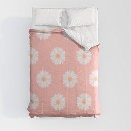 Pink Daisies  Comforters