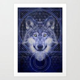 Wolf Geometry Art Print