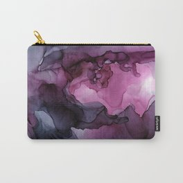 Abstract Ink Painting Ethereal Flowing Watercolor Nebula Carry-All Pouch