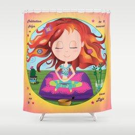 Meditation Om Zen Shower Curtain