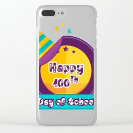 Happy 100 Days Of School Clear iPhone Case