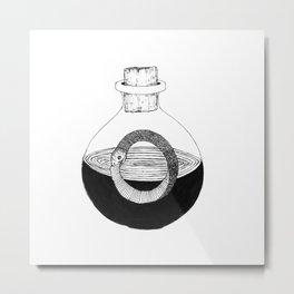 Snake in a Bottle Metal Print