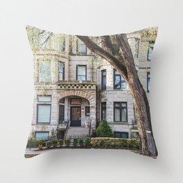 Chicago Graystone Throw Pillow