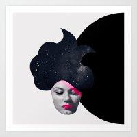 Souffle de Cheveux Art Print