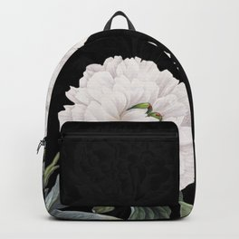 White Peony Black Chic Backpack