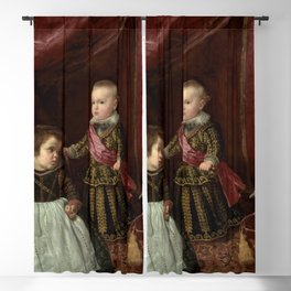 "Diego Velázquez ""Don Baltasar Carlos with a Dwarf"" Blackout Curtain"