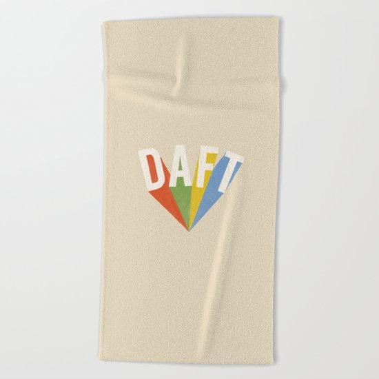 Letters : Daft Beach Towel