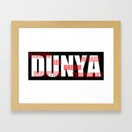 DUNYA Framed Art Print