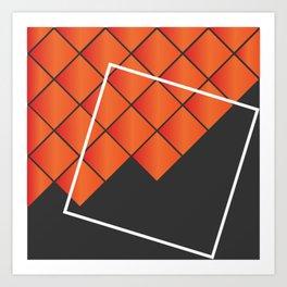 Squares on Squares Art Print