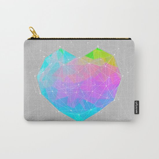 The Dots Will Somehow Connect (Geometric Heart) Carry-All Pouch