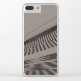 Abstract asymmetrical pattern in beige tones . Clear iPhone Case
