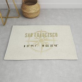 San Francisco - Vintage Map and Location Rug