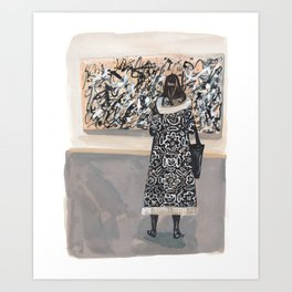 Pollock and Coat Art Print