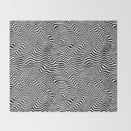 Op Art Stripes Throw Blanket