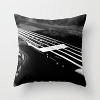 bass Throw Pillows featuring Bass  by Lia Bedell