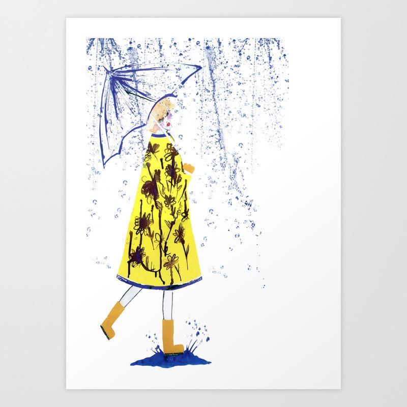 Singin' In The Rain Art Print by Cdouthwaite PRN99529