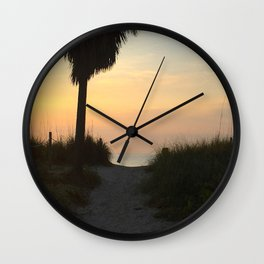 Morning Path to the Ocean Wall Clock
