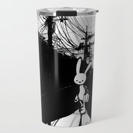 minima - beta bunny / noir Travel Mug