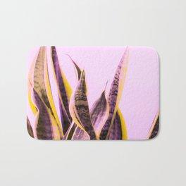 Long Leaves Plant On Pink Background #decor #society6 #buyart Bath Mat