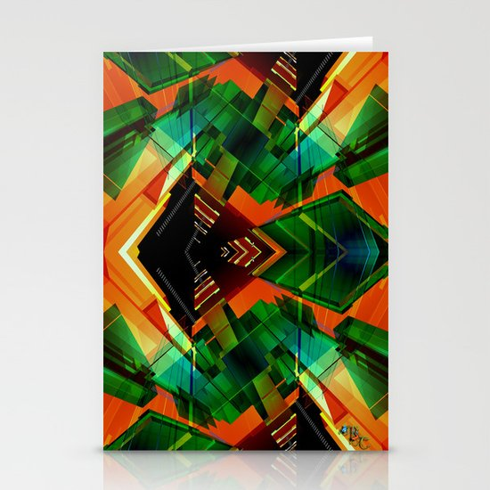 Emerald Tunnel Stationery Cards