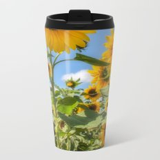 Sunflowers Metal Travel Mug