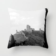 Assisi in the winter Throw Pillow