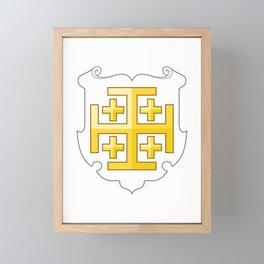 Kingdom of Jerusalem Coat of Arms  Framed Mini Art Print