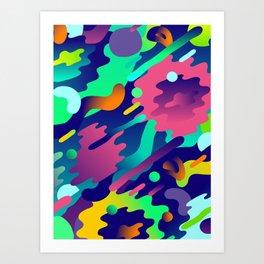 Splash Pattern Art Print