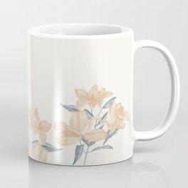 Gold & Blue Flowers Coffee Mug