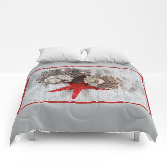 Seashell and Red Star Comforters