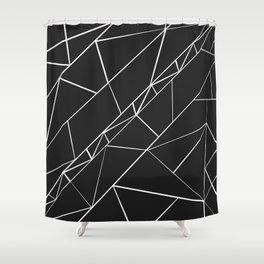 Hand drawn geometrical black white triangles Shower Curtain