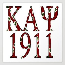Kappa Alpha Psi 1911 Crimson Design Art Print