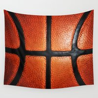 basketball Wall Tapestries featuring Basketball by alifart