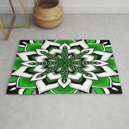 Mandala : Green Flower Mandala Rug