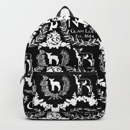 NYC Glam League Crest No. 5 in Black + White Backpack