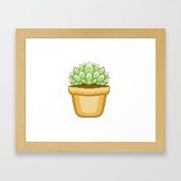 Cute Succulent Framed Art Print