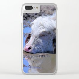 White Water Buffalo Bliss Clear iPhone Case
