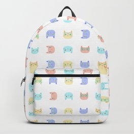 Cats Wearing Glasses Backpack