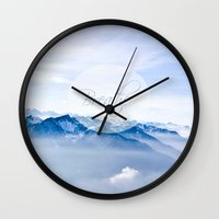 breathe Wall Clocks featuring Breathe by Pudel-design