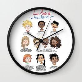 Les Amis de Bedhead Wall Clock