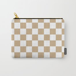 Checkered (Tan & White Pattern) Carry-All Pouch