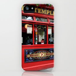 Red Temple Bar pub in Dublin iPhone Case