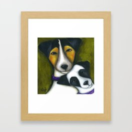 Jack Russell Terriers Mom and Baby  Framed Art Print