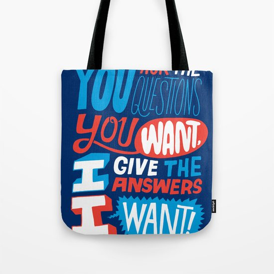 The Answers I Want. Tote Bag