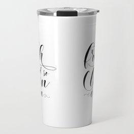 So Fresh And So Clean Clean, Printable Art, Bathroom Wall Art, Bathroom Printables Travel Mug