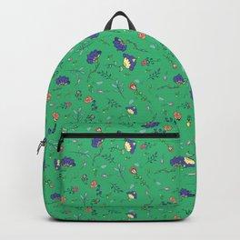 Mint cornflower pattern Backpack
