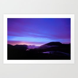 Valley Sunset Art Print