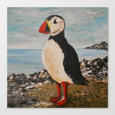 The Puffin Canvas Print