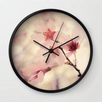 blush Wall Clocks featuring Blush by Jenndalyn
