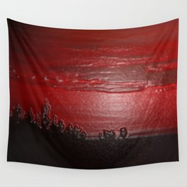 Lacquer Sunset Wall Tapestry